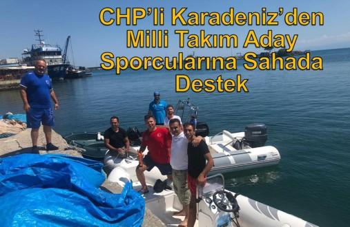 CHP'li Karadeniz'den Milli Takım Aday Sporcularına Sahada Destek