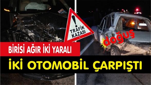 İlçemizde Trafik Kazası 1i ağır 2 kişi yaralı