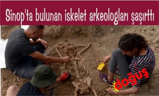 SİNOP'ta bulunan iskelet arkeologları şaşırttı